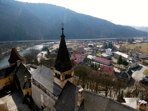 View from Orava Castle.