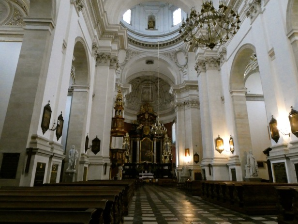 Inside Saints Peter and Paul Church.