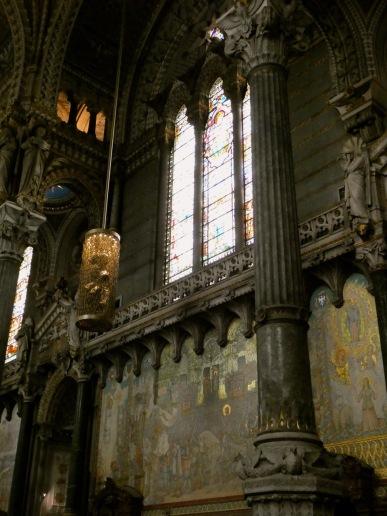 Inside Basilica of Notre-Dame de Fourvière.Inside Basilica of Notre-Dame de Fourvière.