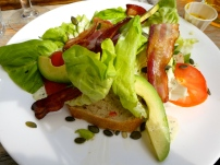 Open Faced BLT Sandwich.