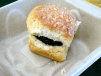 Biscuit with Blackberry Jam.