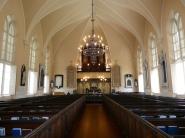 Inside Huguenot Church.
