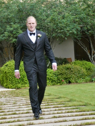 Wes Walking Down the Aisle.
