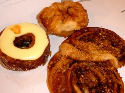 Seasonal Cronut, Kouign Amann, and Nutella Milk Bread.