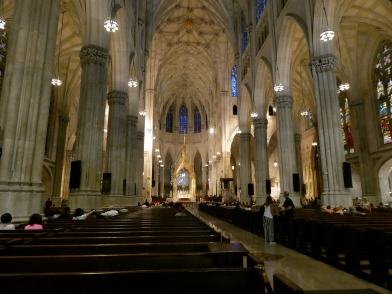 Inside Patrick's Cathedral.